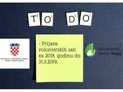 Prijava volonterskih sati za 2018. godinu