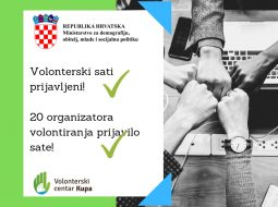 Uspješno podneseno 20 izvješća organizatora volontiranja s područja našeg LAG-a!