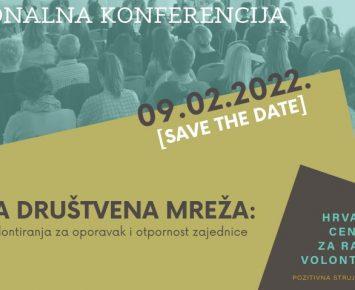 Najava – Nacionalna konferencija o volontiranju